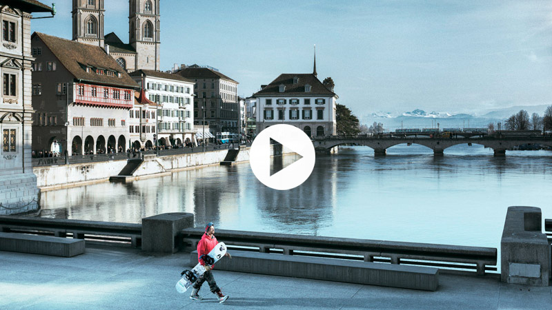 Nicolas Müller - Snowboarding through Zurich