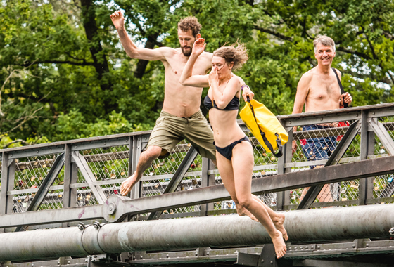 Swimming in the Aare river